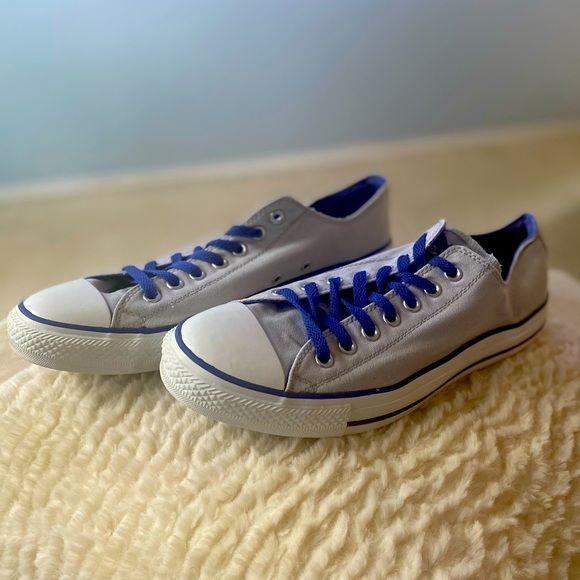New Converse All Star sneakers; gray/navy blue